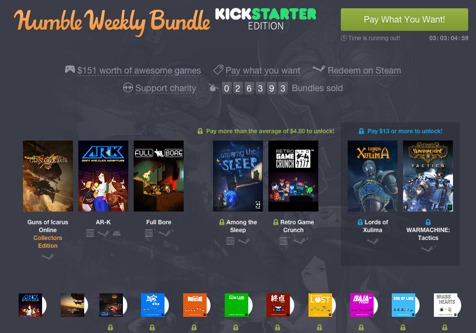 Humble Weekly Bundle Kickstarter Edition